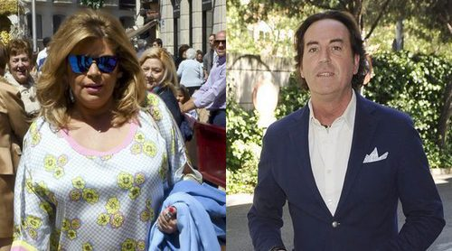 Las tensas miradas entre Terelu Campos y Pipi Estrada en su encuentro en Málaga