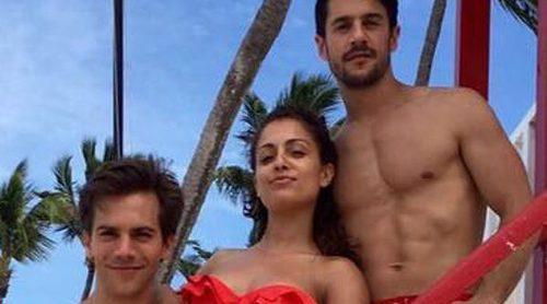 Hiba Abouk, Marc Clotet y Alejo Sauras, muy sexys al más puro estilo de 'Los vigilantes de la playa'