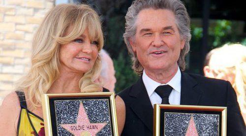 Goldie Hawn y Kurt Russell reciben así de enamorados sus estrellas en el Paseo de la Fama de Hollywood