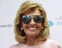 María Teresa Campos recibe el alta muy sonriente y recuperada tras sufrir un ictus