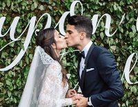 Marc Bartra y Melissa Jiménez enseñan los momentos más románticos de su boda