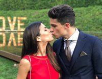 Marc Bartra y Melissa Jiménez reviven su boda una semana después en el enlace de Marc Muniesa y Sara Campeny