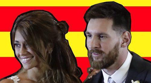 El motivo por el que ondeó una bandera catalana en la boda de Leo Messi y Antonella Roccuzzo