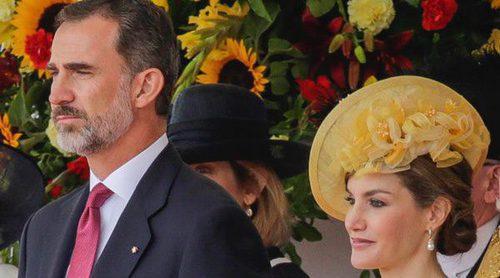 Los Reyes Felipe y Letizia se rinden ante la pompa de la Familia Real Británica al comienzo de su Viaje de Estado