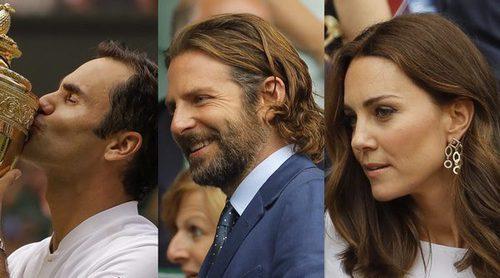 Los Duques de Cambridge o Bradley Cooper disfrutaron de la victoria de Roger Federer en Wimbledon 2017