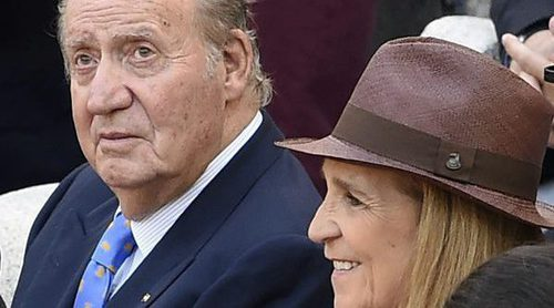 El Rey Juan Carlos y la Infanta Elena comparten una polémica paella con Bertín Osborne y Arévalo