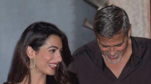 George Clooney y Amal Alamuddin disfrutan de una cita romántica sin sus hijos
