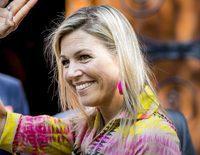 Máxima de Holanda reaparece muy sonriente tras la muerte de su padre