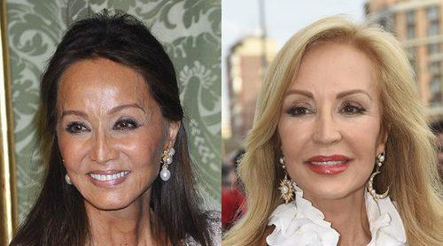 Carmen Lomana, contra Isabel Preysler: 'No puedo meterme en la cama con un señor de 85 años como Vargas Llosa'