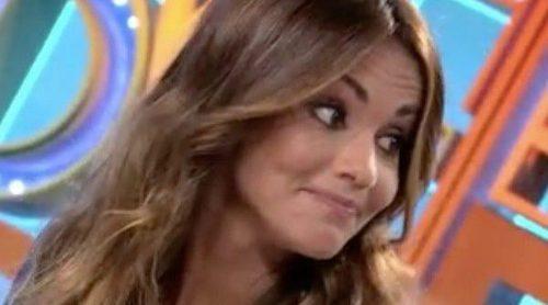 Lara Álvarez y su mal trago al hablar de Fernando Alonso en directo