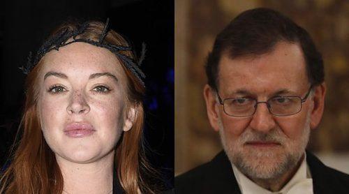 Lindsay Lohan está interesada en Mariano Rajoy: Ha empezado a seguirle en las redes sociales