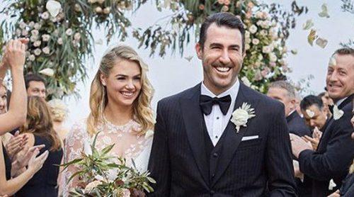 Kate Upton y Justin Verlander publican por fin la foto de su boda
