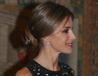 La Reina Letizia recupera la sonrisa: brilla con luz propia en la cena de despedida al presidente de Israel