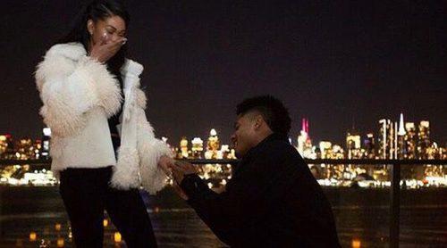 Chanel Iman y Sterling Shepard se comprometen tras poco más de un año de noviazgo