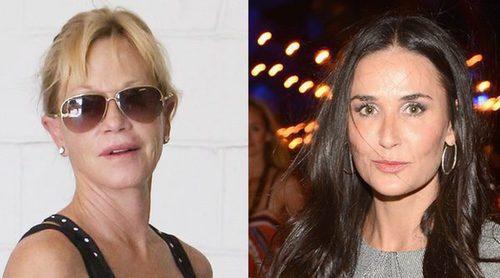 Demi Moore y Dakota Johnson abandonan la fiesta que Melanie Griffith dio en su casa de Los Ángeles