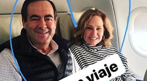 Ex bien avenidos: José Bono y Ana Rodríguez se van con sus hijos y sus nietos de viaje a Jordania