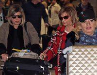 Carmen Borrego, Terelu y María Teresa Campos vuelven de Nueva York rodeadas de misterio y de maletas