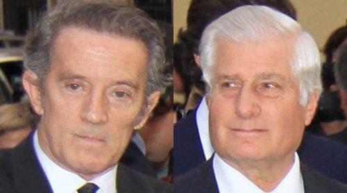 El Duque de Alba, Cayetano Martínez de Irujo y Alfonso Díez se apoyan en el funeral de la Condesa de Romanones