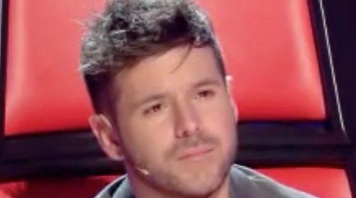 La emoción de Pablo López durante la final de 'La Voz'