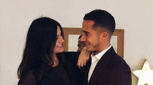 Lucas Vázquez y Macarena Rodríguez reciben 2018 anunciando que van a ser padres