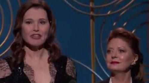 Geena Davis y Susan Sarandon recuerdan a 'Thelma y Louise' en los Globos de Oro 2018
