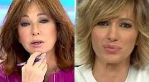 Ana Rosa Quintana vive su momento más bochornoso en directo por culpa de Susanna Griso