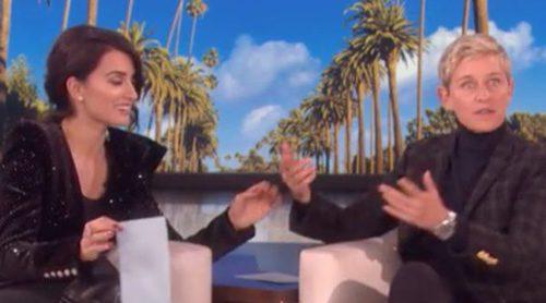 Penélope Cruz le enseña a Ellen DeGeneres hablar español y a decir 'me cago en la leche'