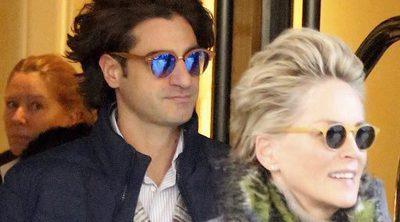 Sharon Stone se deja ver públicamente junto a su nuevo novio, el joven Angelo Boffa