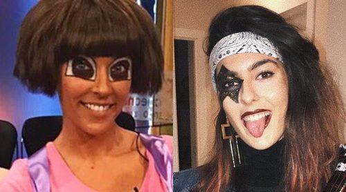 Los disfraces de los famosos y sus hijos para este Carnaval: Frozen, Kiss, Dora la Exploradora...