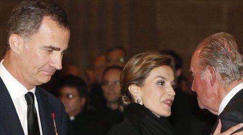 La tristeza de los Reyes Felipe y Letizia, Juan Carlos y Sofía por la muerte de Enrique de Dinamarca