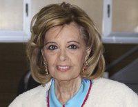 María Teresa Campos recibe el alta entre sonrisas y lágrimas tras recuperarse de su operación por suboclusión intestinal