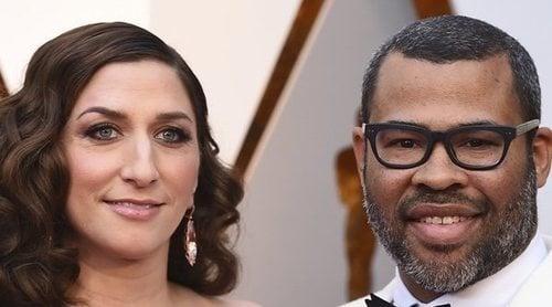 Jorge Javier Vázquez y Paz Padilla 'aparecen por sorpresa' en los Oscar 2018 gracias a Jordan Pelee y Chelsea Peretti