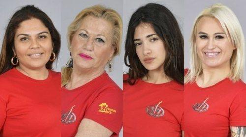 Saray Montoya, Mayte Zaldívar, Isabel Castell y Melissa Vargas son las primeras nominadas de 'Supervivientes 2018'