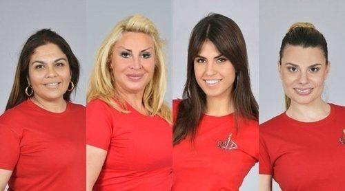 Saray Montoya, Raquel Mosquera, Sofía Suescun y María Lapiedra son las nuevas nominadas de 'Supervivientes 2018'