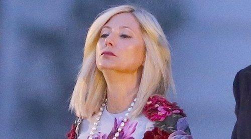 Marie-Chantal de Grecia reaparece tras la polémica con la Reina Letizia para ver desfilar a su hija Olympia