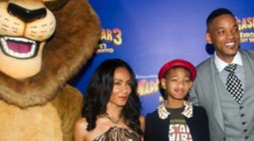 Will Smith, Jada Pinkett, Willow Smith y Jessica Chastain se han dado cita en el estreno de 'Mdagascar 3'