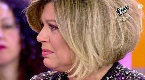 Terelu Campos, incapaz de contener las lágrimas en 'Sálvame' ante las sinceras disculpas de Kiko Hernández