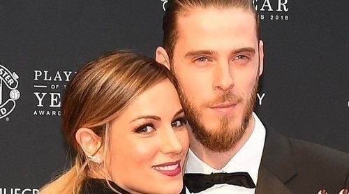 Edurne y David de Gea presumen de amor en la alfombra roja de la Manchester United Player of the Year 2018