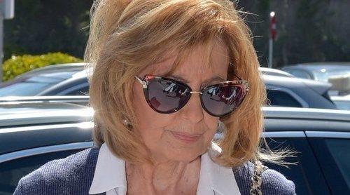 María Teresa Campos y otros famosos, muy afectados en el tanatorio de José María Íñigo