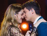 Alfred y Amaia disfrutan de la Blue Carpet tras su segundo ensayo antes de Eurovisión 2018