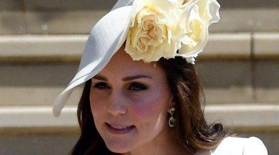 La deslucida reaparición de Kate Middleton tras dar a luz al Príncipe Luis en la boda del Príncipe Harry y Meghan Markle