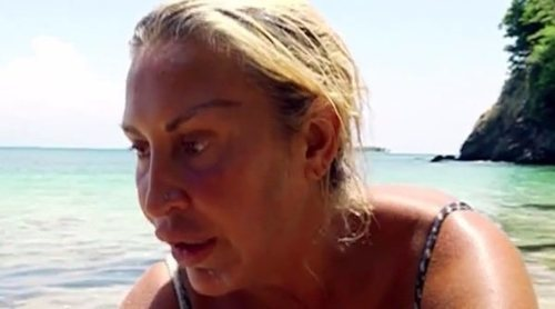 Raquel Mosquera provoca el enfado de Logan al 'robarle' ocho peces en 'Supervivientes 2018'