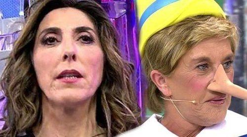 Chelo García-Cortés insulta a Paz Padilla: '¡Es imbécil, es imbécil!'