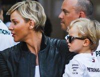 Los pequeños Jacques y Gabriella de Mónaco, el centro de atención en los entrenamientos previos al Gran Premio