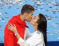 Cristiano Ronaldo y Georgina Rodríguez, puro amor celebrando la Champions 2018