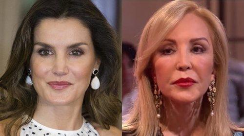 Carmen Lomana no se corta ni un pelo hablando de la Reina Letizia: 'Tiene un aspecto tremendamente arrogante'