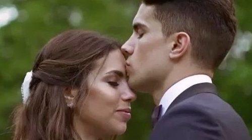 Marc Bartra y Melissa Jiménez celebran su primer aniversario de boda