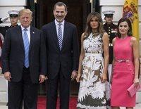 Primer encuentro de los Reyes Felipe y Letizia con Donald y Melania Trump: sonrisas tensas y poca complicidad