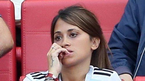 La tristeza de Antonella Roccuzzo por la eliminación de Argentina en el Mundial de Rusia 2018