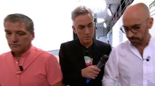 La policía se persona en 'Sálvame' para entregar una citación judicial a Gustavo González y Diego Arrabal